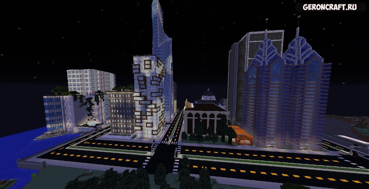 Скачать New Port City карту для Майнкрафт [1.12.2] [1.11.2] [1.10.2]