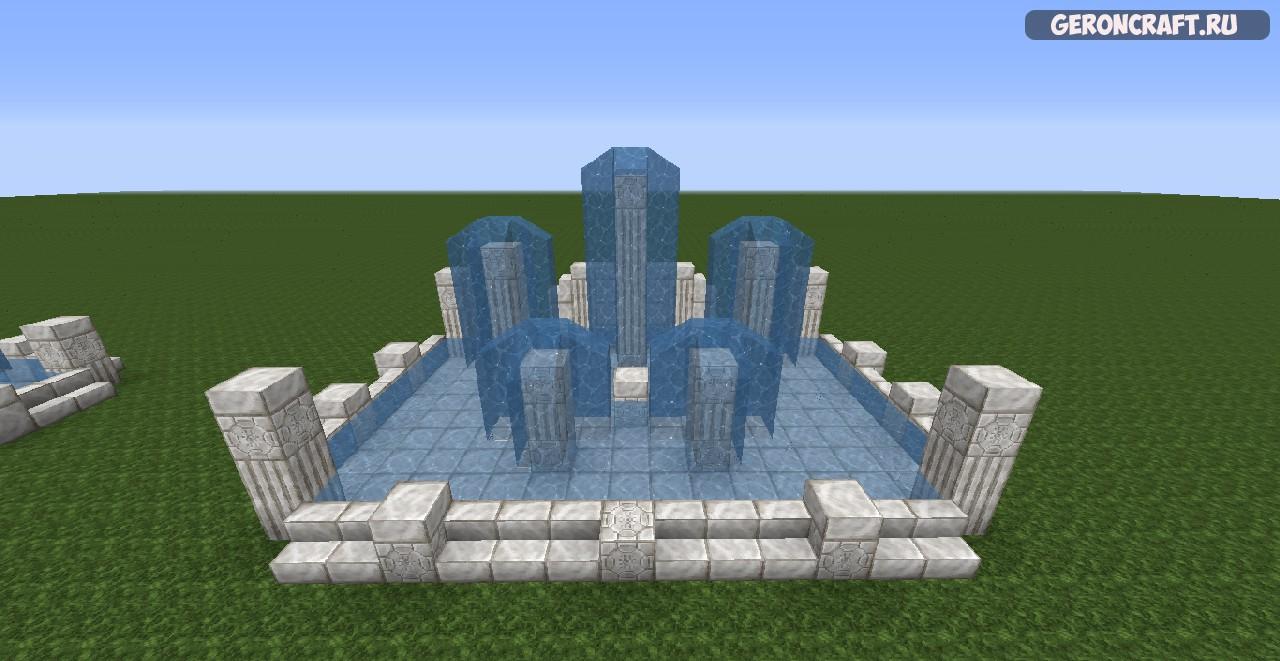 фонтан в майнкрафт схема вам чашушули