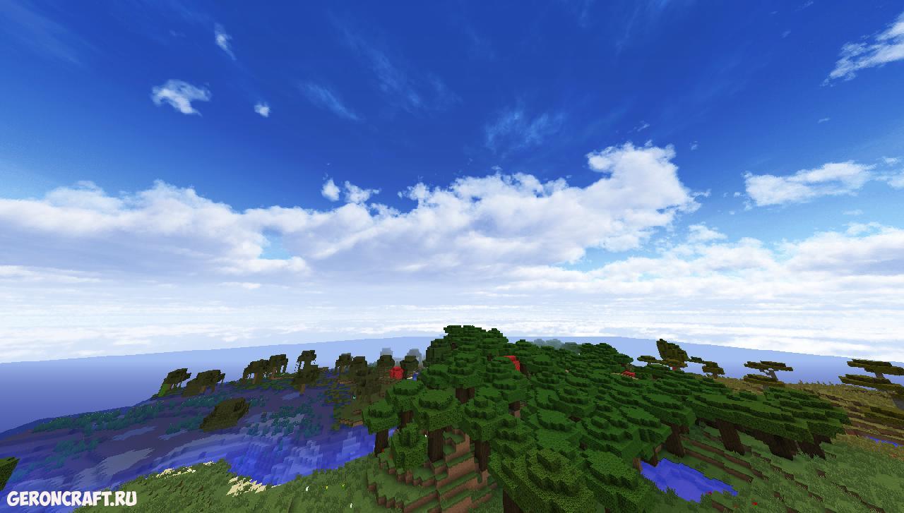 красивое небо на майнкрафт 1.7.2 #3