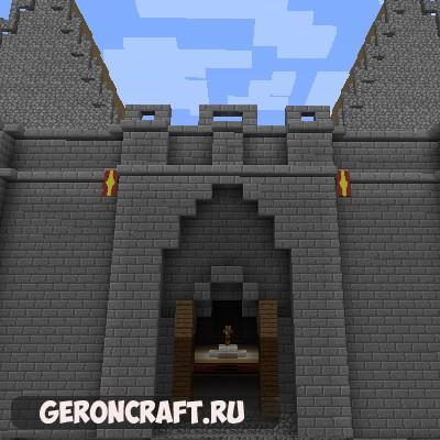 Скачать Battlehorn Castle карту для Майнкрафт [1.8.9]