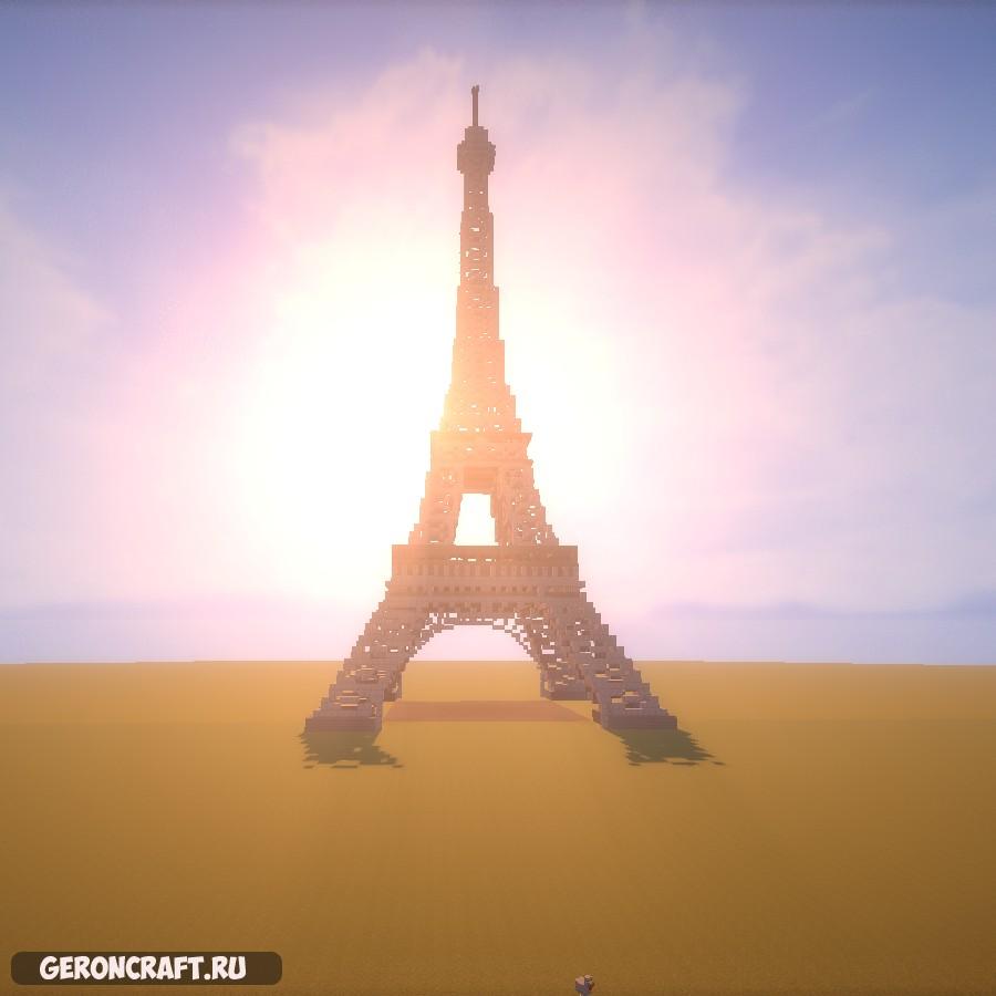 Скачать Minecraft — Global Monuments — Eiffel Tower карту для Майнкрафт [1.9.4] [1.8.9] [1.7.10]